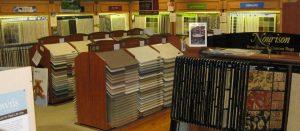 Flooring in Mizell Interiors Showroom